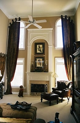 Window Treatments For Draping Two Story Windows
